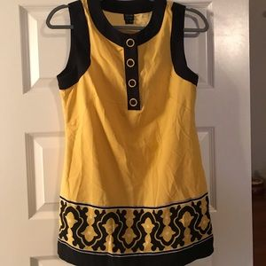Nicole by nicole miller yellow and black tunic top